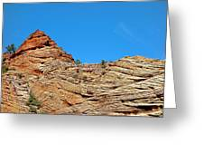 Zion Checkerboard Formations Greeting Card