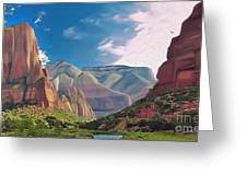 Zion Cliffs Greeting Card
