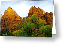 Zion In Autumn Greeting Card