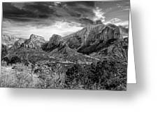 Zion In Black And White Greeting Card