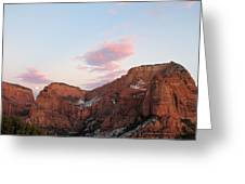 Zion Mountain #3 Greeting Card