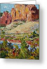 Zion Mountain Cliff Greeting Card