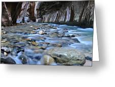 Zion National Park Narrows Greeting Card