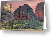 Zion National Park Sunset Greeting Card