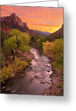 Zion National Park The Watchman Greeting Card