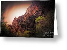 Zion National Park Usa  Greeting Card