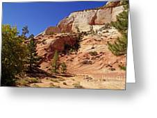 Zion Np Panorama Greeting Card