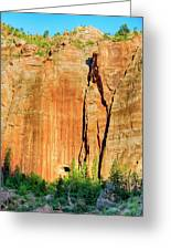 Zion Rock Wall Greeting Card