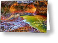 Zion Subway Greeting Card by Greg Norrell