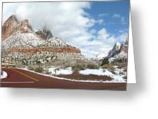 Crossroads, Zion Valley Greeting Card