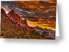 Zion's Fire Iv Greeting Card