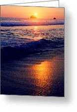 Zipolite Sunset In January 2 Greeting Card