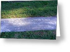 Zollicoffer's Grave Greeting Card