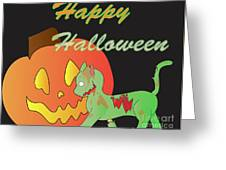 Zombie Cat Greeting Card