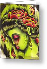 Zombie Girl No2 Greeting Card