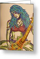 Zombie Guitar Greeting Card