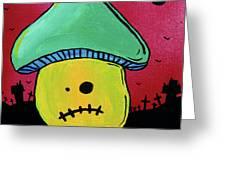 Zombie Mushroom 1 Greeting Card by Jera Sky