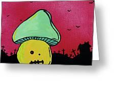 Zombie Mushroom 2 Greeting Card