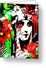 Zombie Queen Roses Greeting Card