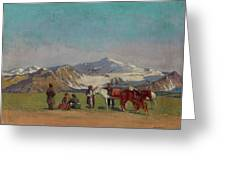 Zommer, Richard 1866-1939 In The Mountains Of Alatau Greeting Card
