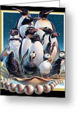 Zoofari Poster 2004 The Penguins Greeting Card