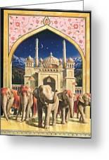 Zoofari Poster The Elephants Greeting Card