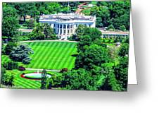 Zoomed In Photo Of The White House Greeting Card