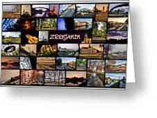 Zrenjanin Collage Greeting Card