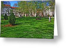 Zrinski Park Greeting Card