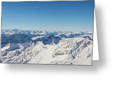 Zugspitze Observatory Panorama Greeting Card
