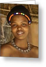 Zulu Beauty Greeting Card