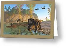 Zuniceratops River Greeting Card