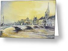 Zurich Sunset- Switzerland Greeting Card