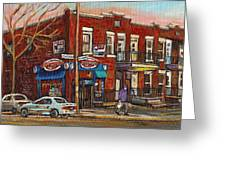 Zytynsky's Deli Rosemont Montreal Greeting Card