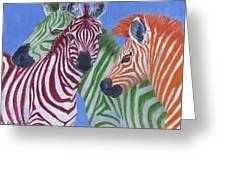 Zzzebras Greeting Card