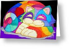 Zzzzzzzzzz Cat 3 Greeting Card by Nick Gustafson