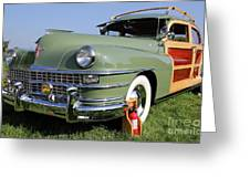 1947 Chrysler Town And Country Woody Greeting Card