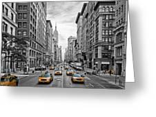 5th Avenue Nyc Traffic Greeting Card