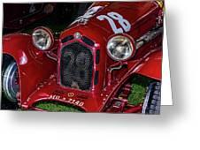 A 1930 Alfa Romeo 6c 1750 Gs  Greeting Card
