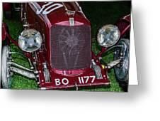 A 1933 Maserati 8c 3000 Biposto Greeting Card