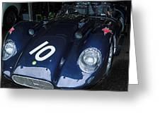 A 1950's Lister Jaguar Race Car Greeting Card
