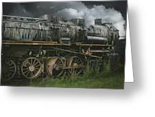 Abandoned Steam Locomotive  Greeting Card