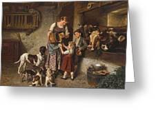 Adolf Eberle  Fresh Milk Greeting Card