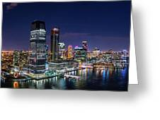 Aerial Panorama Of Jersey City Greeting Card