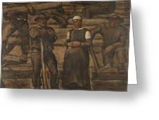 Albin Egger-lienz 1868 - 1926 The Ages Of Life Greeting Card