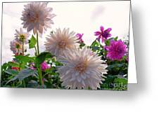 Among The Flowers Greeting Card