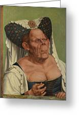 An Old Woman  The Ugly Duchess   Greeting Card