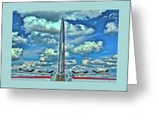 B-17 Tail Fin Greeting Card