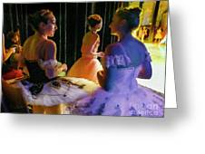 Ballerina Discussions Greeting Card