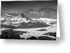 Beartooth Mountain Range Black And White Greeting Card by Dan Sproul